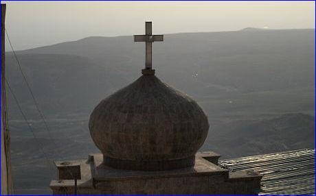 The Christian Mar Mattai monastry overlooking the Nineveh plain (Photo by Judit Neurink).