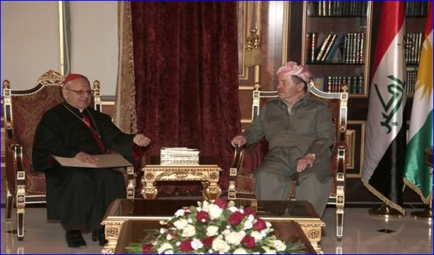 President Barzani Receives Patriarch Louis Sako