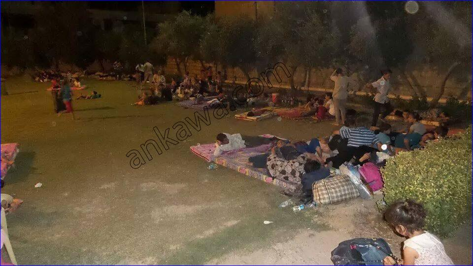 Assyrian refugees sleeping on the streets of Ankawa, Iraq (photo: ankawa.com).