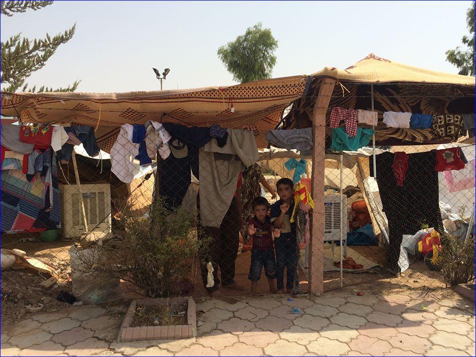 Assyrian refugees in Ankawa, Iraq.