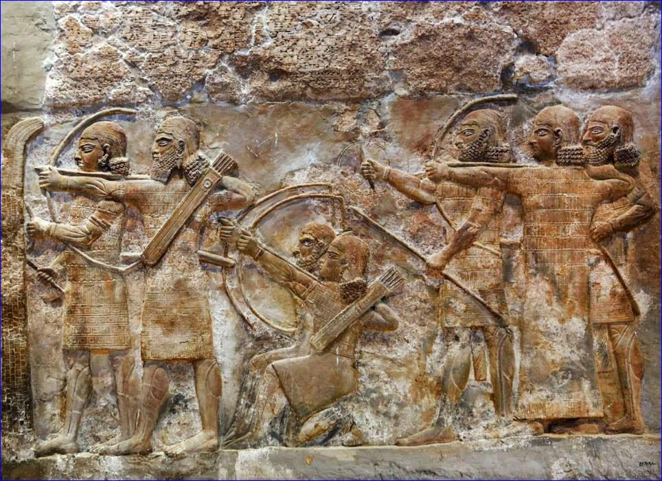 Bas-relief inscriptions at the Iraqi National Museum in Baghdad.