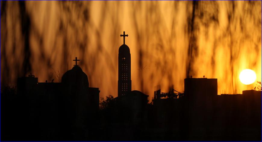 The Coptic Orthodox Virgin Mary church is seen during sunset in Cairo, April 18, 2009 (photo: REUTERS/Tarek Mostafa).