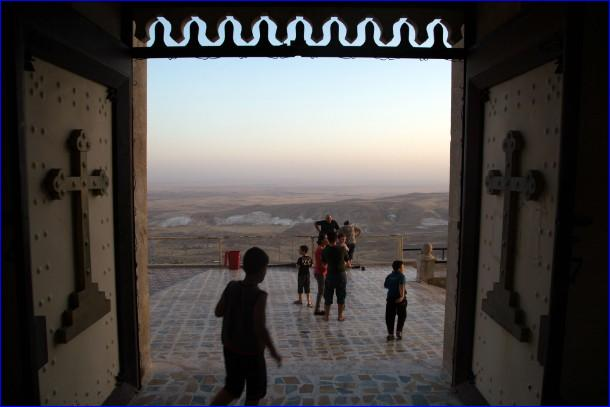 Iraqi Assyrian families took refuge in the mountaintop Mar Matta Monastery, 30 miles east of Mosul, to flee ISIS.