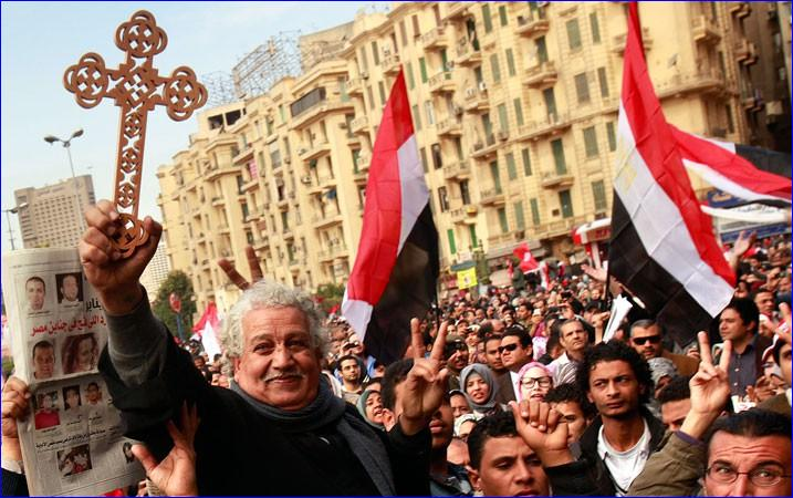 Coptic Christians rallied in Cairo for religious tolerance (AP Photo).