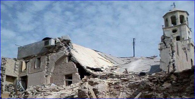 The St. Odisho Assyrian Church in Tel Tal, Syria, was bombed by ISIS on April 28, 2015.