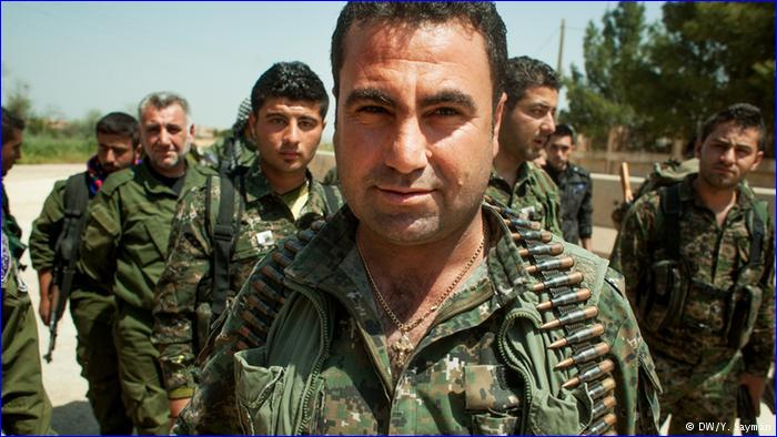 "Melke Rabo is a commander in the Christian militia Syriac [Assyrian] Military Council, one of the groups fighting back against the ""IS"" advance."