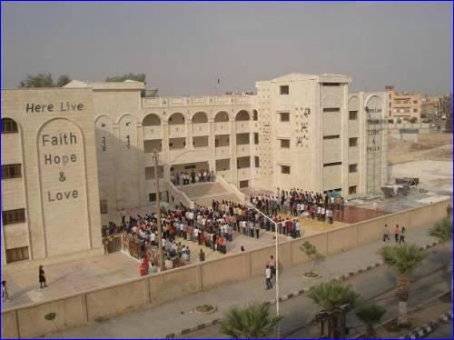The Amal Assyrian Elementary School in Hasaka, Syria, which has been occupied by the YPG Kurdish militia.