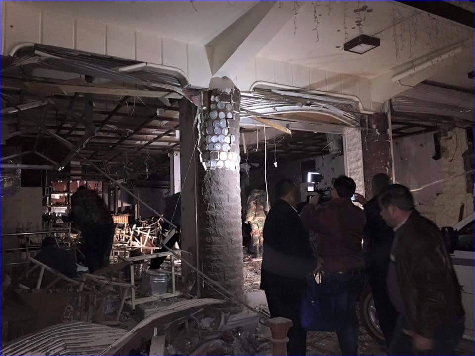 One of the three Assyrian restaurant in Qamishli, Syria which were bombed.