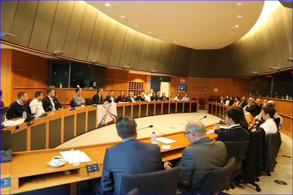 Members of the Assyrian Confederation of Europe meeting in Brussels. ( AINA)