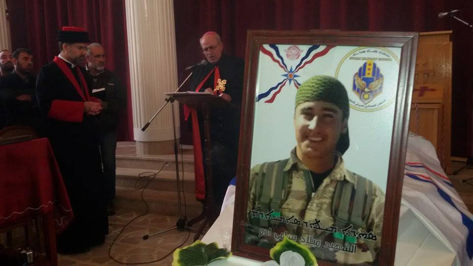 Funeral service for Milad Sammy Adam and the other 8 Assyrians fighters killed by ISIS.