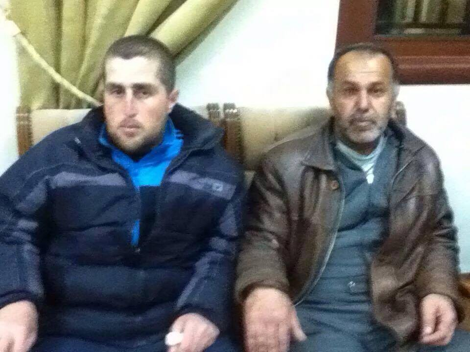 Assyrian hostages from Tel Goran who were captured and released by ISIS, at St. Mary